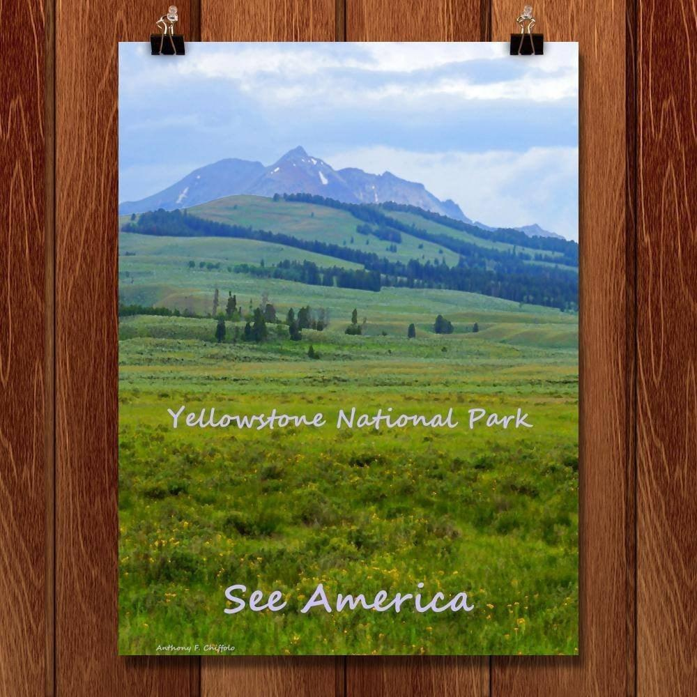 "Yellowstone National Park 2 by Anthony Chiffolo 18"" by 24"" Print / Unframed Print See America"