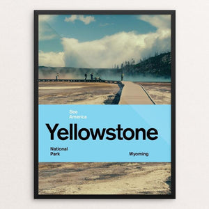 "Yellowstone National Park 2 by Brandon Kish 12"" by 16"" Print / Framed Print See America"