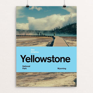 "Yellowstone National Park 2 by Brandon Kish 12"" by 16"" Print / Unframed Print See America"