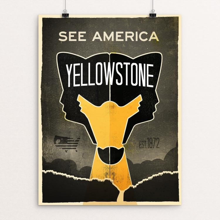 "Yellowstone National Park 2 by Matt Brass 12"" by 16"" Print / Unframed Print See America"