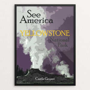 "Yellowstone National Park 2 by Melody Gilmore 18"" by 24"" Print / Framed Print See America"