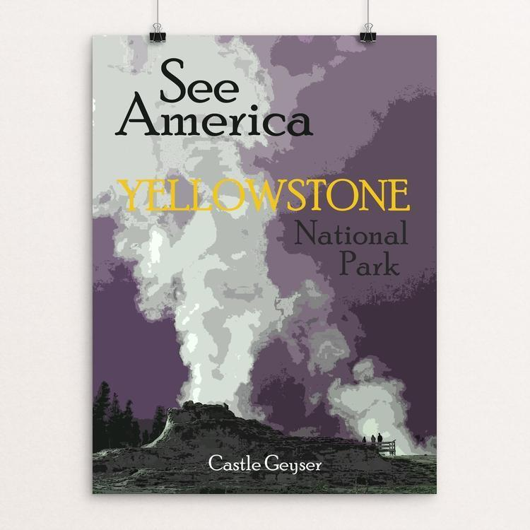 "Yellowstone National Park 2 by Melody Gilmore 18"" by 24"" Print / Unframed Print See America"