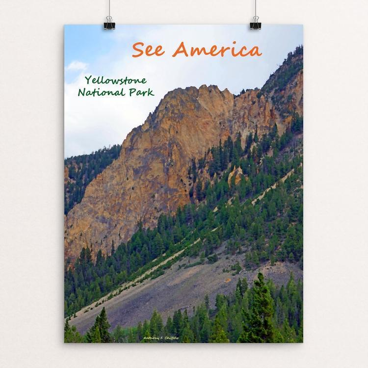"Yellowstone National Park 3 by Anthony Chiffolo 12"" by 16"" Print / Unframed Print See America"