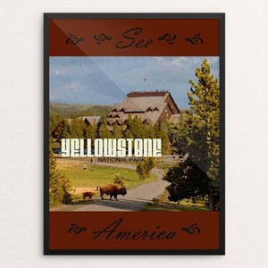 "Yellowstone National Park 3 by Melody Gilmore 18"" by 24"" Print / Framed Print See America"