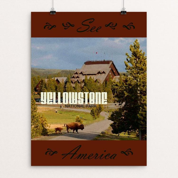 "Yellowstone National Park 3 by Melody Gilmore 18"" by 24"" Print / Unframed Print See America"