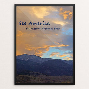 "Yellowstone National Park 4 by Anthony Chiffolo 12"" by 16"" Print / Framed Print See America"