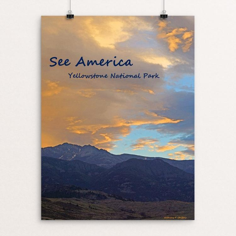 "Yellowstone National Park 4 by Anthony Chiffolo 12"" by 16"" Print / Unframed Print See America"