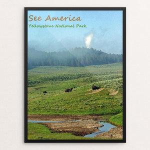 "Yellowstone National Park 6 by Anthony Chiffolo 12"" by 16"" Print / Framed Print See America"