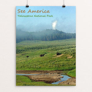"Yellowstone National Park 6 by Anthony Chiffolo 12"" by 16"" Print / Unframed Print See America"
