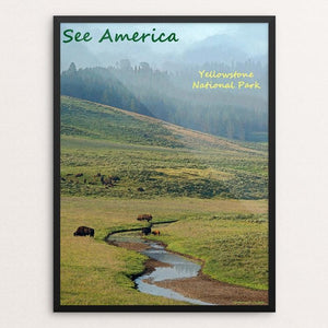 "Yellowstone National Park 8 by Anthony Chiffolo 12"" by 16"" Print / Framed Print See America"