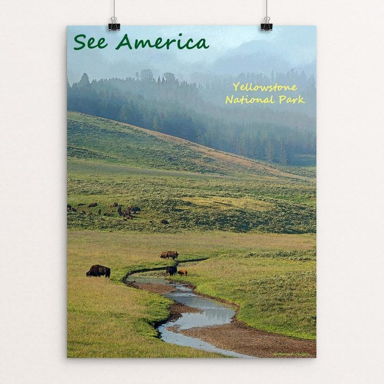 "Yellowstone National Park 8 by Anthony Chiffolo 12"" by 16"" Print / Unframed Print See America"