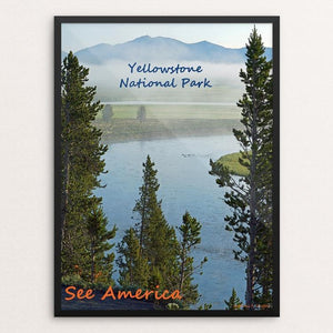 "Yellowstone National Park by Anthony Chiffolo 12"" by 16"" Print / Framed Print See America"
