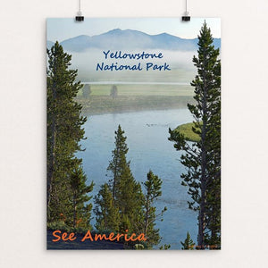 "Yellowstone National Park by Anthony Chiffolo 12"" by 16"" Print / Unframed Print See America"