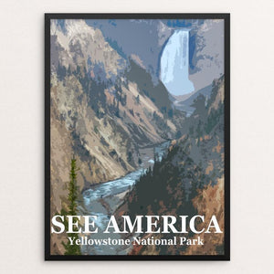 "Yellowstone National Park by Bill Vitiello 12"" by 16"" Print / Framed Print See America"