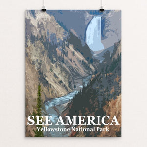 "Yellowstone National Park by Bill Vitiello 12"" by 16"" Print / Unframed Print See America"