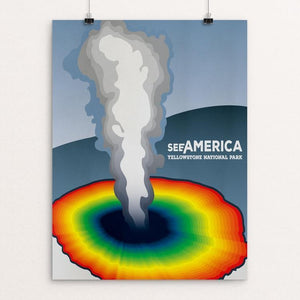 "Yellowstone National Park by Blaire Price 12"" by 16"" Print / Unframed Print See America"