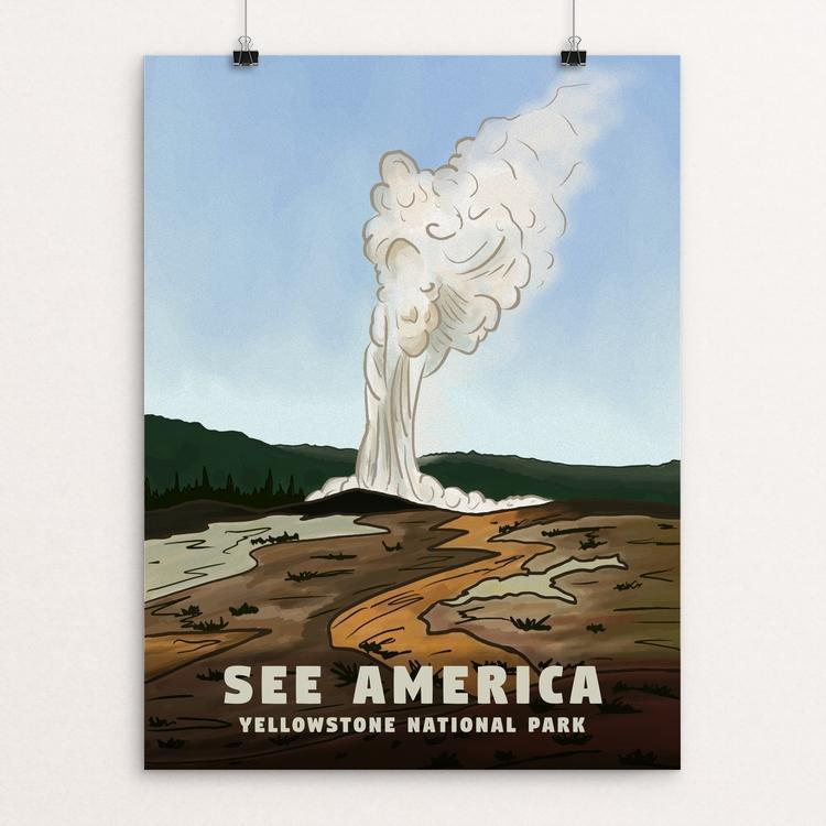 "Yellowstone National Park by Bryan Clocker 12"" by 16"" Print / Unframed Print See America"