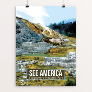 "Yellowstone National Park by Catherine LaBarre 12"" by 16"" Print / Unframed Print See America"