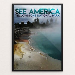 "Yellowstone National Park by Charlie Xiao 12"" by 16"" Print / Framed Print See America"