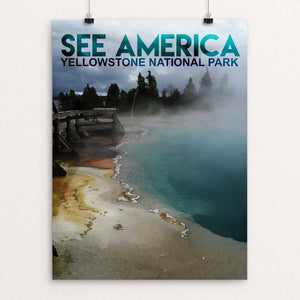 "Yellowstone National Park by Charlie Xiao 12"" by 16"" Print / Unframed Print See America"