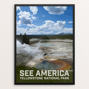 "Yellowstone National Park by Daniel Gross 12"" by 16"" Print / Framed Print See America"