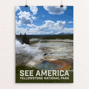 "Yellowstone National Park by Daniel Gross 12"" by 16"" Print / Unframed Print See America"