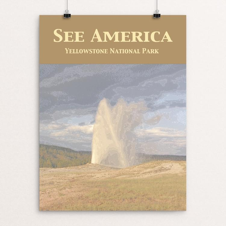 "Yellowstone National Park by Jennie Lambert 12"" by 16"" Print / Unframed Print See America"