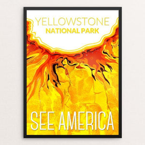 "Yellowstone National Park by Mayanglambam Dinesh Singh 18"" by 24"" Print / Framed Print See America"
