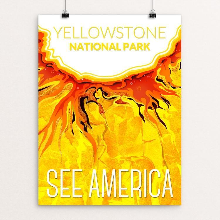 "Yellowstone National Park by Mayanglambam Dinesh Singh 18"" by 24"" Print / Unframed Print See America"