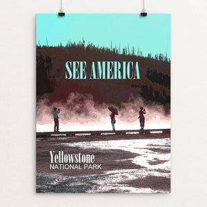 "Yellowstone National Park by Melody Gilmore 12"" by 16"" Print / Unframed Print See America"