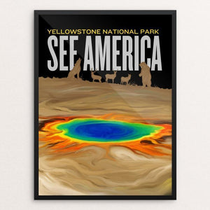 "Yellowstone National Park by Vikram Nongmaithem 12"" by 16"" Print / Framed Print See America"