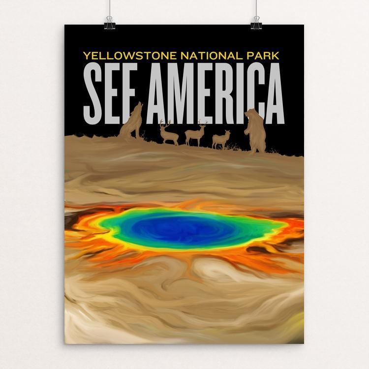 "Yellowstone National Park by Vikram Nongmaithem 12"" by 16"" Print / Unframed Print See America"