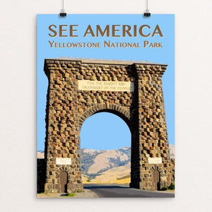 "Yellowstone National Park by Zack Frank 12"" by 16"" Print / Unframed Print See America"