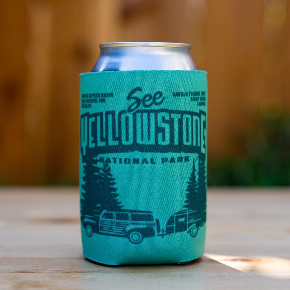 Yellowstone National Park Koozie by Chris England Can Koozie Koozie See America