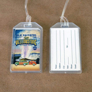 Yellowstone National Park Luggage Tags by Chris England Lustre Paper Luggage Tag See America