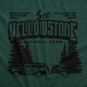 Yellowstone National Park Men's T-Shirt by Chris England S / Green T-Shirt See America