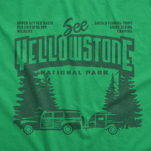 Yellowstone National Park Women's T-Shirt by Chris England S / Green T-Shirt See America