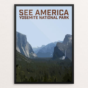 "Yosemite National Park 2 by Daniel Gross 12"" by 16"" Print / Framed Print See America"