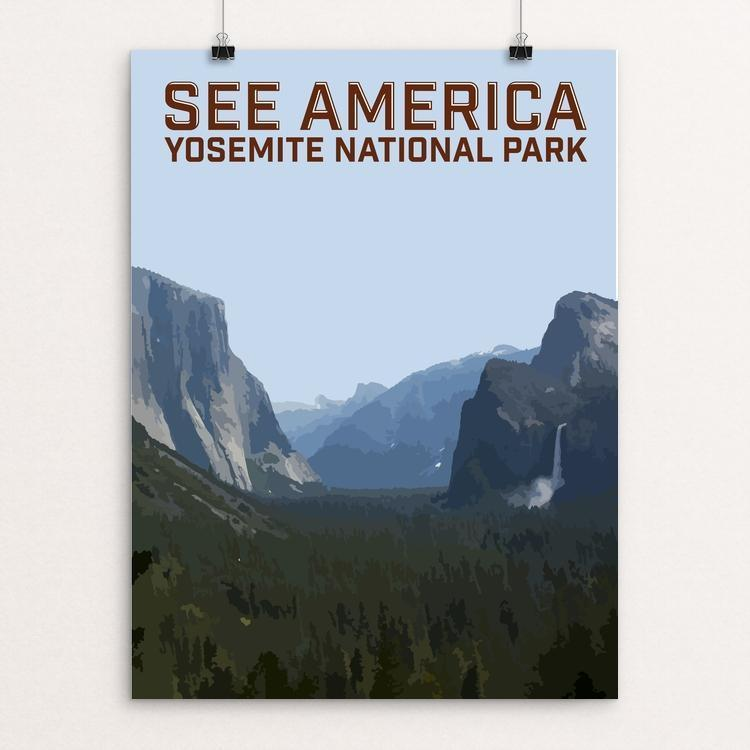 "Yosemite National Park 2 by Daniel Gross 12"" by 16"" Print / Unframed Print See America"