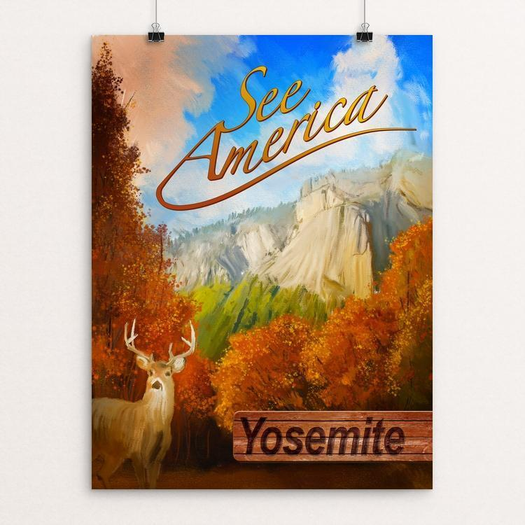 "Yosemite National Park by Adam Miller 18"" by 24"" Print / Unframed Print See America"