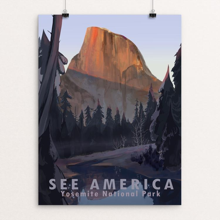 "Yosemite National Park by Alyssa Winans 12"" by 16"" Print / Unframed Print See America"