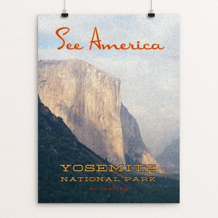 "Yosemite National Park by Ed Gaither 12"" by 16"" Print / Unframed Print See America"