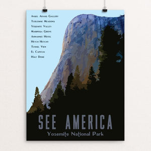 "Yosemite National Park by Isaac Loveland 12"" by 16"" Print / Unframed Print See America"