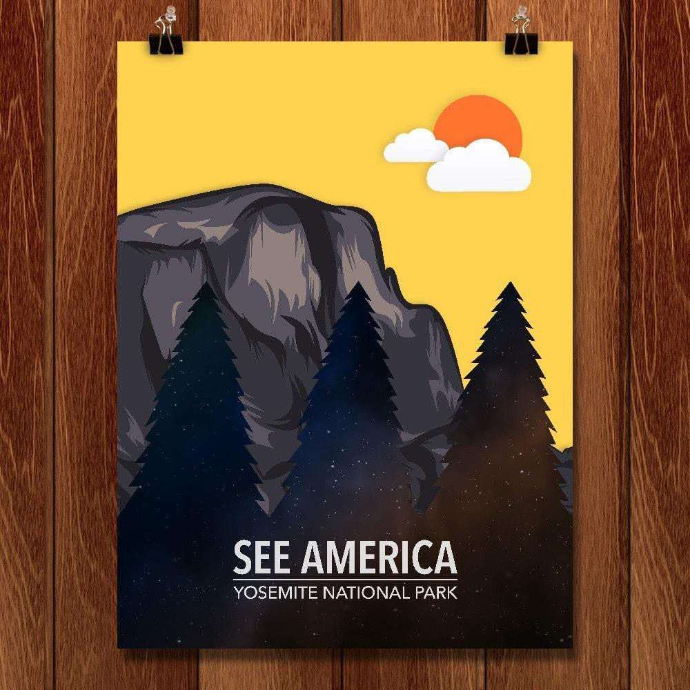 "Yosemite National Park by Jeff Sun 12"" by 16"" Print / Unframed Print See America"