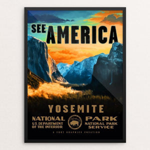 "Yosemite National Park by Justin Weiss 12"" by 16"" Print / Framed Print See America"