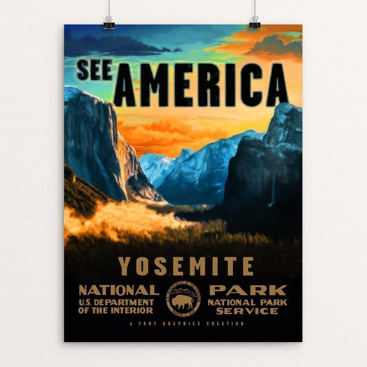 "Yosemite National Park by Justin Weiss 12"" by 16"" Print / Unframed Print See America"