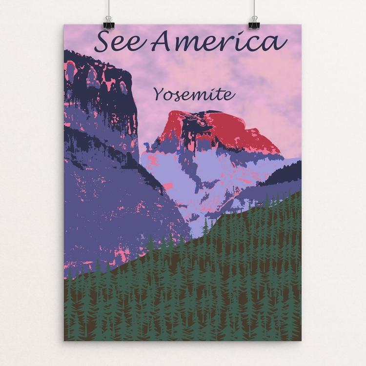 "Yosemite National Park by Karina Blondin 12"" by 16"" Print / Unframed Print See America"