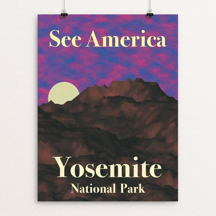 "Yosemite National Park by Lance Tarrazona 12"" by 16"" Print / Unframed Print See America"
