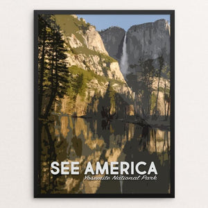 "Yosemite National Park by Mary Stasilli 12"" by 16"" Print / Framed Print See America"