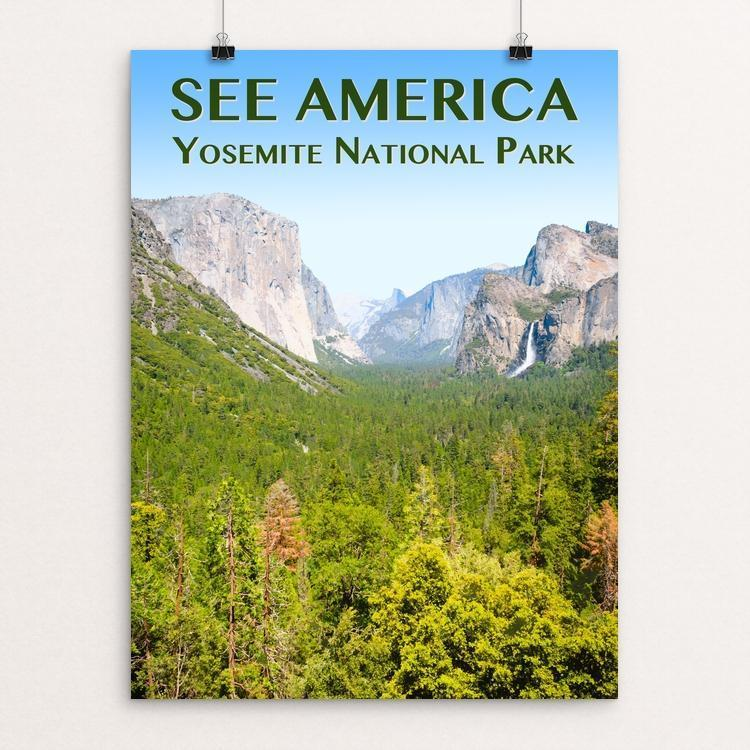 "Yosemite National Park by Zack Frank 12"" by 16"" Print / Unframed Print See America"